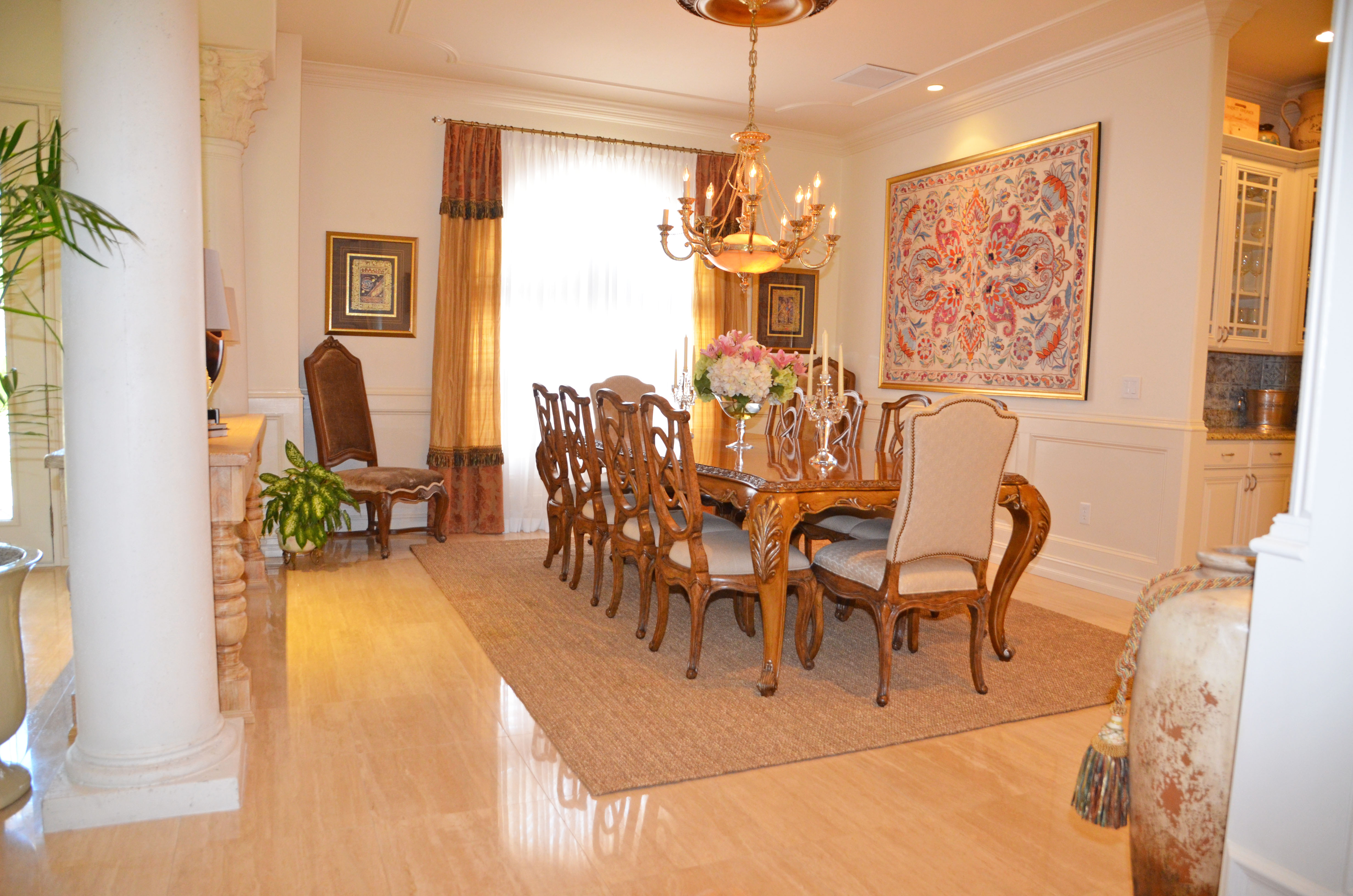 Dining room after B